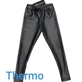 Legging leatherlook thermo