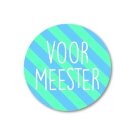 Sticker Voor Meester