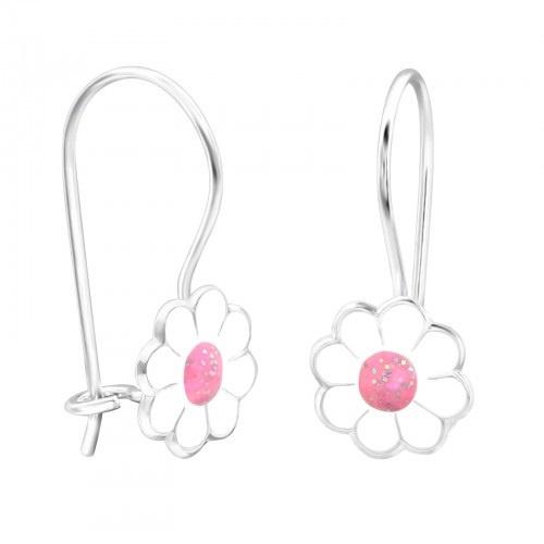 Kinderoorbel Bloemen wit/roze