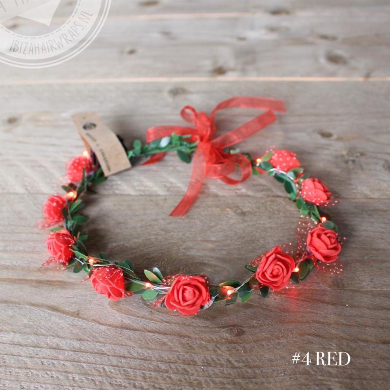 Led Haarband Rood