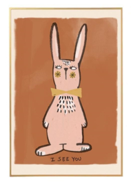 STUDIO LOCO POSTER RABBIT EARTH 50 X 70 CM