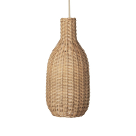 FERM LIVING BRAIDED LAMPSHADE GEVLOCHTEN ROTAN LAMP BOTTLE