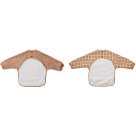 LIEWOOD MERLE CAPE 2 PACK CHECK / GRAPHIC STROKE TUSCANY ROSE MIX