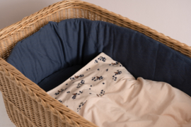 HOUSE OF JAMIE BED - BOX BUMPER VINTAGE BLUE WAFFLE