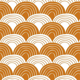 SWEDISH LINENS TWEEPERSOONS HOESLAKEN 180 X 200 CM RAINBOWS CINNAMON BROWN