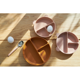 LIEWOOD CONNIE DIVIDER BOWL 2 PACK ROSE MIX