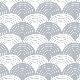 SWEDISH LINENS TWEEPERSOONS HOESLAKEN 160 X 200 CM RAINBOWS TRANQUIL GREY