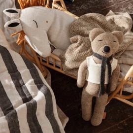 FERM LIVING ROY MERINO WOOL TEDDY BEAR SUGAR KELP