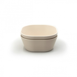 MUSHIE BOWL SQUARE SET (2) IVORY
