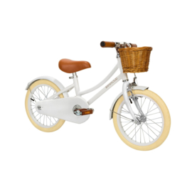 BANWOOD  FIETS MET TRAPPERS WIT