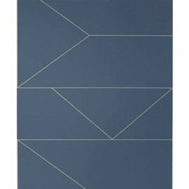 FERM LIVING LINES WALLPAPER DARKBLUE