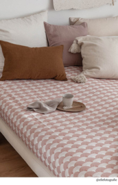 SWEDISH LINENS FITTED DOUBLE SHEETS 160 x 200 CM NUDY PINK