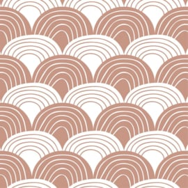 SWEDISH LINENS LEDIKANT HOESLAKEN 120 x 60 CM RAINBOWS TERRACOTTA PINK