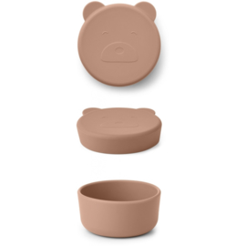 LIEWOOD CARRIE SNACK BOX  MR BEAR TUSCANY ROSE