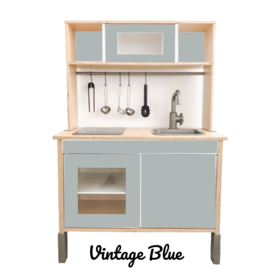 STCKRS IKEA DUKTIG KEUKEN STICKERSET VINTAGE BLUE