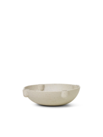 FERM LIVING BOWL CANDLE HOLDER GRIJS