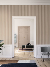 FERM LIVING BEHANG THIN LINES MUSTARD/OFFWHITE