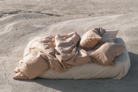 CRISP SHEETS TWEEPERSOONS DEKBEDOVERTREK 220 X 240 CM SAND DUNE