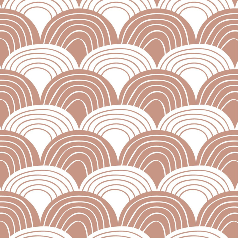 SWEDISH LINENS TWEEPERSOONS HOESLAKEN RAINBOWS 160 X 200 CM TERRACOTTA PINK
