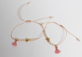 Estilo Decoration - Mother & Daughter Macramé Bracelet Turtle & Tassel