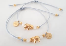 Estilo Decoration - Mother & Daughter Macramé Bracelet Elephant