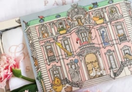 Atelier Choux - Large Swaddle Print: Monceau Mansion