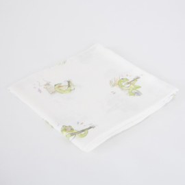 The Little Art Collection - Large Bamboo Swaddle Print: Frog