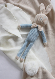JA Baby Design - Handmade Crochet Personalized Rabbit - Baby Blue