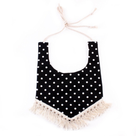 Scarf & Bib With Tassels  - Dots