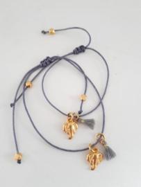 Estilo Decoration - Mother & Daughter Macramé Bracelet Elephant & Tassel