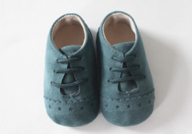 Soft Faux Leather Shoes - Blue