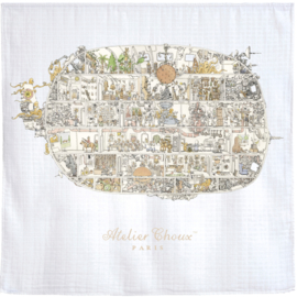 Atelier Choux - Large Swaddle Print: Space Invaders