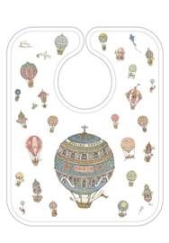 Atelier Choux - Bib Large  Print: Hot Air Balloons