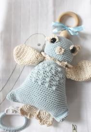 JA Baby Design - Handmade Crochet Owl With Music Box -  Baby Blue