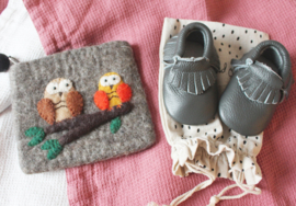 La Petite Alice - Handmade Linen Snuggle Blanket Pink/Ivory
