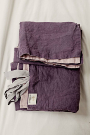 La Petite Alice - Handmade Linen Bedding Set Purple/Pink