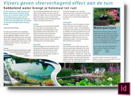 Vijvers geven sfeerverhogend effect aan de tuin