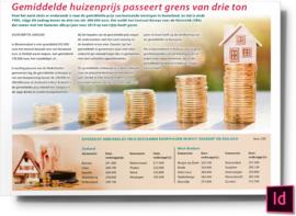 Gemiddelde huizenprijs passeert grens van drie ton