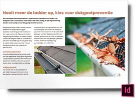 nooit meer de ladder op kies voor dakgootpreventie