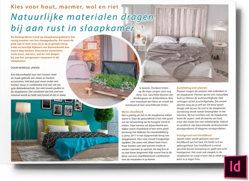 Natuurlijke materialen dragen bij aan rust in slaapkamer