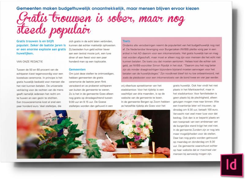 Gratis trouwen is sober maar nog steeds populair