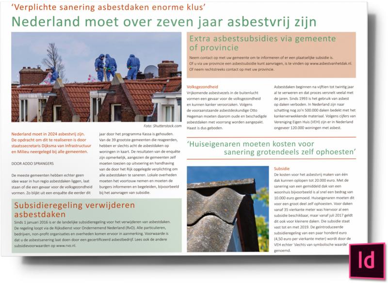 Nederland moet over zeven jaar asbestvrij zijn