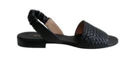 Zwart vlecht sandaal
