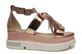 Oro rosa plato sandaal