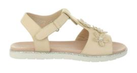 Beige bloem sandaal
