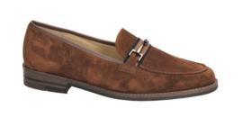 Cognac suède loafer