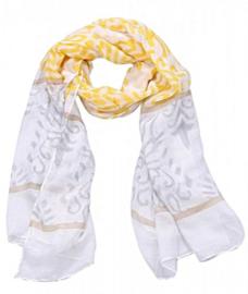 Sjaal baroque gris jaune