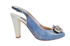 Bleu sparkling slingback