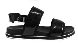 Zwart sandaal 2 banden