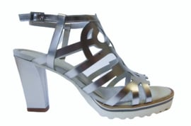 Zilver leren sandalet